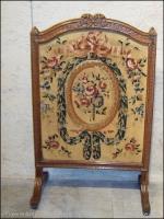 pare feu ecran de cheminee louis xvi bois sculpte patine xix eme antiquites en france. Black Bedroom Furniture Sets. Home Design Ideas