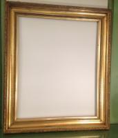 miroir ancien en bois dore a la feuille d or 19 eme | Antiquites ...