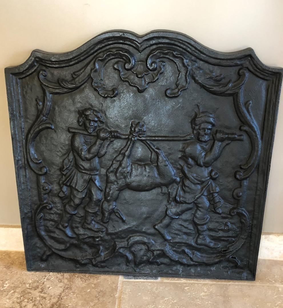 Recherche Plaque De Cheminee Fonte Louis Xiv 1690 Antiquites En France