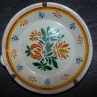 Paire d'assiette faience Nevers