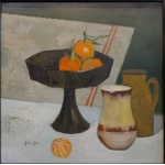 "René GENIS (1922-2004)  ""Nature morte aux mandarines"""