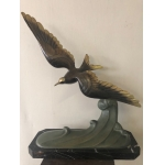 Sculpture de mouette en bronze