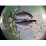 circa art nouveau assiette Porcelaine Decor or poisson peche william guerin limoges musee d orsay xix e