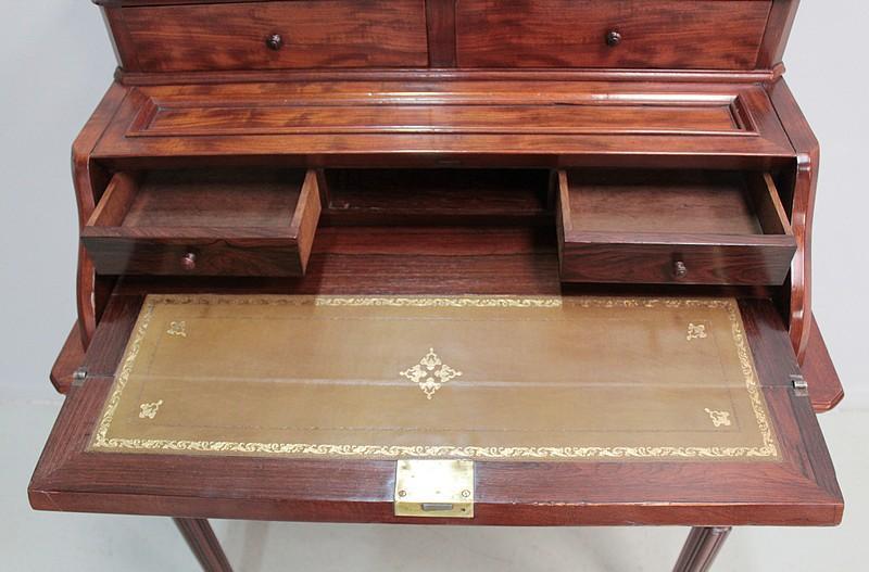 bureau de dame gradin napoleon iii en acajou xixe antiquites. Black Bedroom Furniture Sets. Home Design Ideas