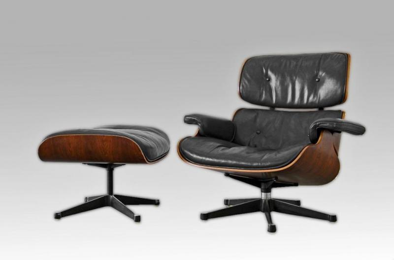 charles ray eames fauteuil lounge chair et ottoman edit mobilier. Black Bedroom Furniture Sets. Home Design Ideas