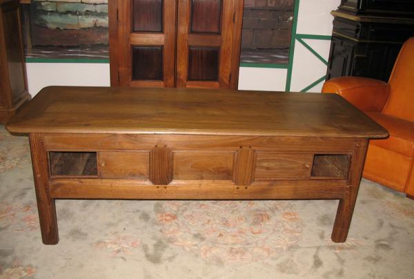 table basse rustique en chataignier xixe antiquites lecomte. Black Bedroom Furniture Sets. Home Design Ideas