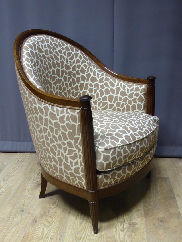 fauteuil berg re art d co philippe cote antiquites. Black Bedroom Furniture Sets. Home Design Ideas