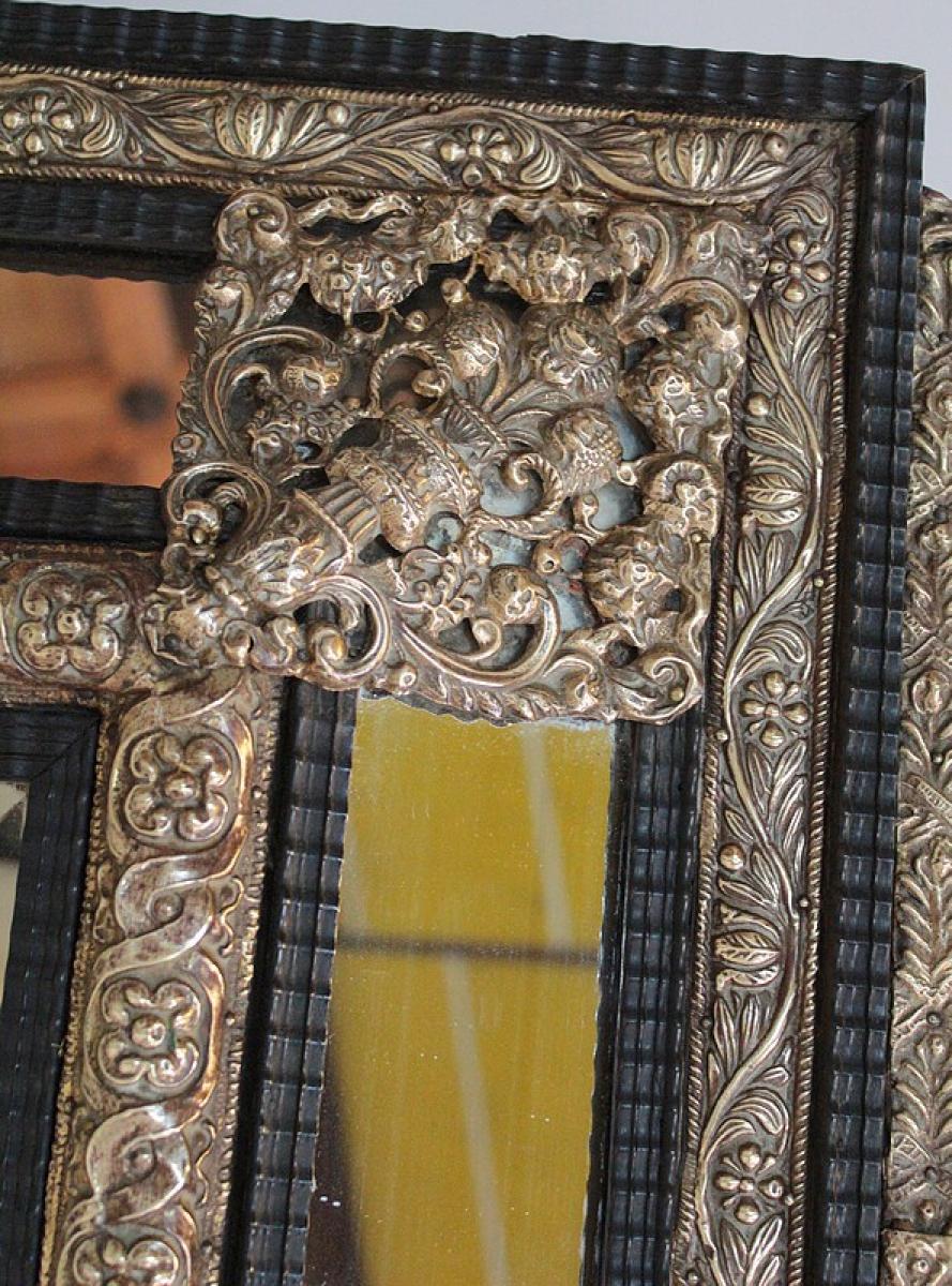 Miroir de style louis xiv xixe antiquites lecomte for Miroir louis xiv