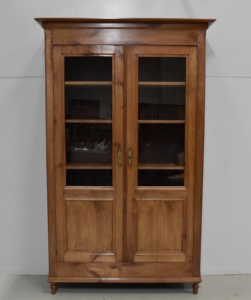armoire biblioth que en merisier poque 1920 antiquites lecomte. Black Bedroom Furniture Sets. Home Design Ideas