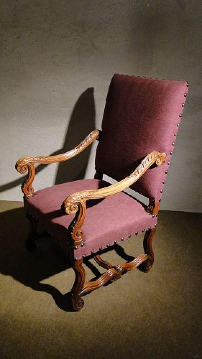 fauteuil louis xiv au r veil du temps. Black Bedroom Furniture Sets. Home Design Ideas