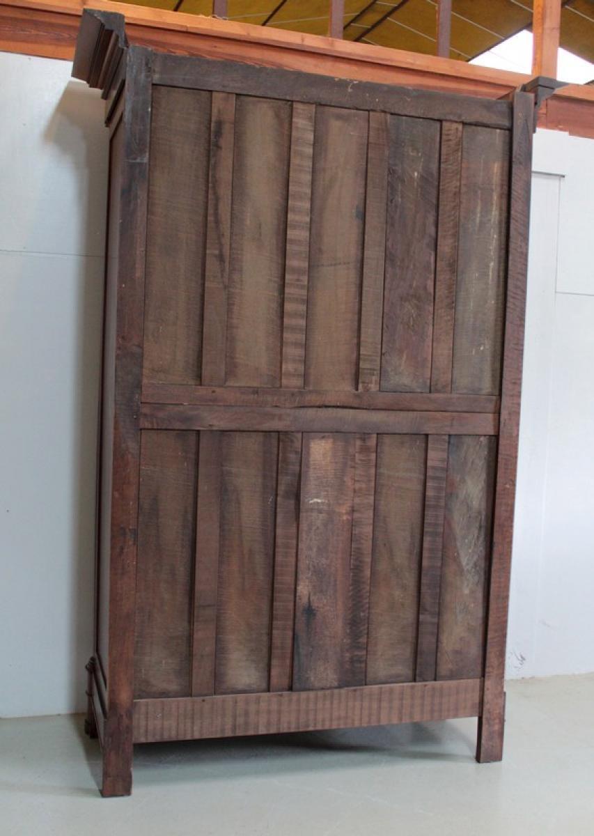 armoire empire en noyer xixe antiquites lecomte. Black Bedroom Furniture Sets. Home Design Ideas