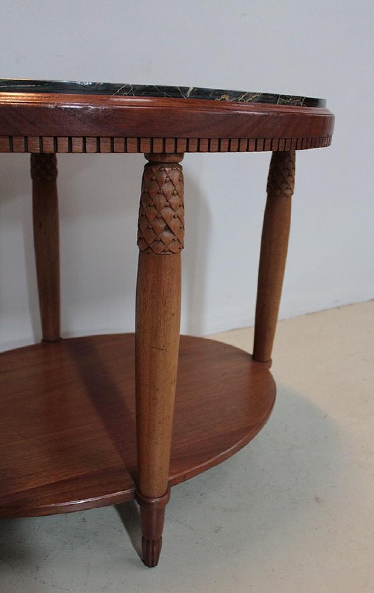 Table basse art d co en acajou xxe antiquites lecomte for Table basse acajou