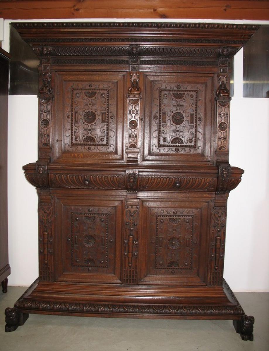 meubles 4 vantaux en ch ne go t renaissance antiquites lecomte. Black Bedroom Furniture Sets. Home Design Ideas