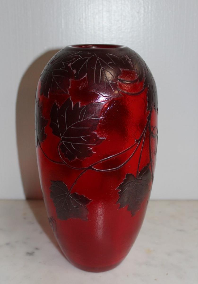 vase de legras art nouveau antiquites lecomte. Black Bedroom Furniture Sets. Home Design Ideas