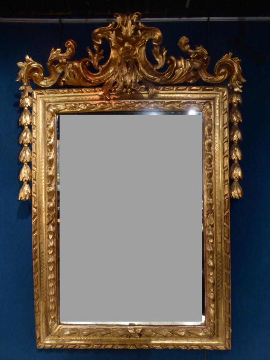 Miroir et console bois dor philippe cote antiquites for Miroir et console