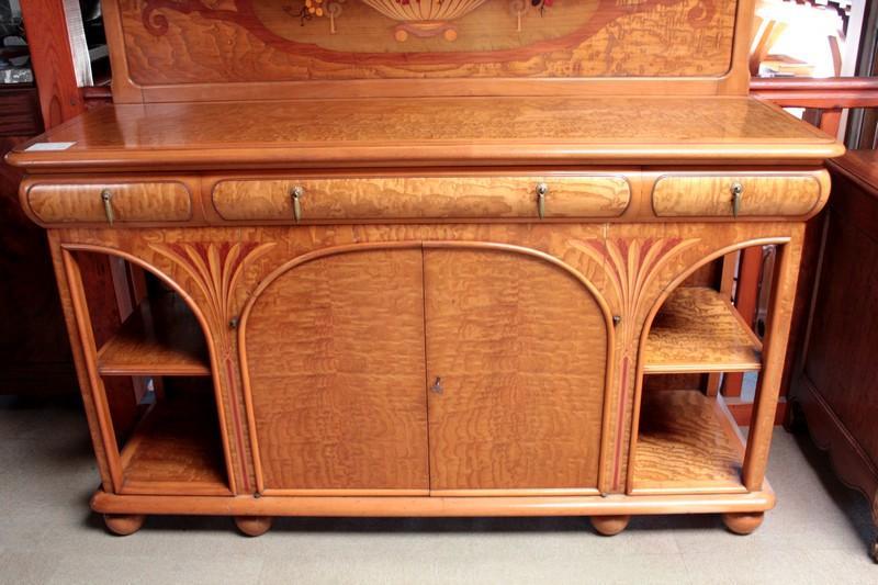 buffet desserte art nouveau antiquites lecomte. Black Bedroom Furniture Sets. Home Design Ideas