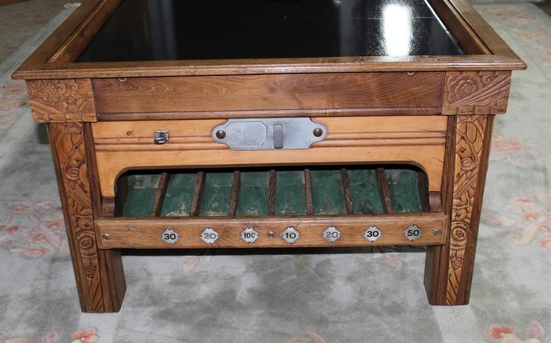 billard en ch ne mis en table basse xxe antiquites lecomte. Black Bedroom Furniture Sets. Home Design Ideas