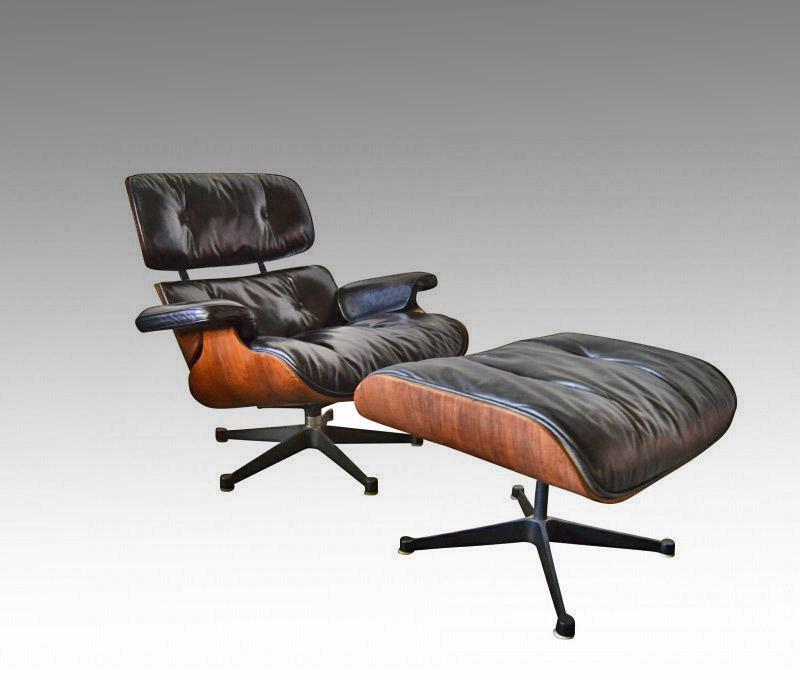 Charles ray eames fauteuil lounge chair et ottoman edit for Mobilier international eames