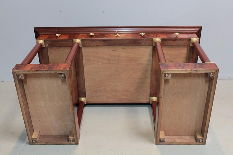 bureau de style empire en acajou xxe antiquites lecomte. Black Bedroom Furniture Sets. Home Design Ideas