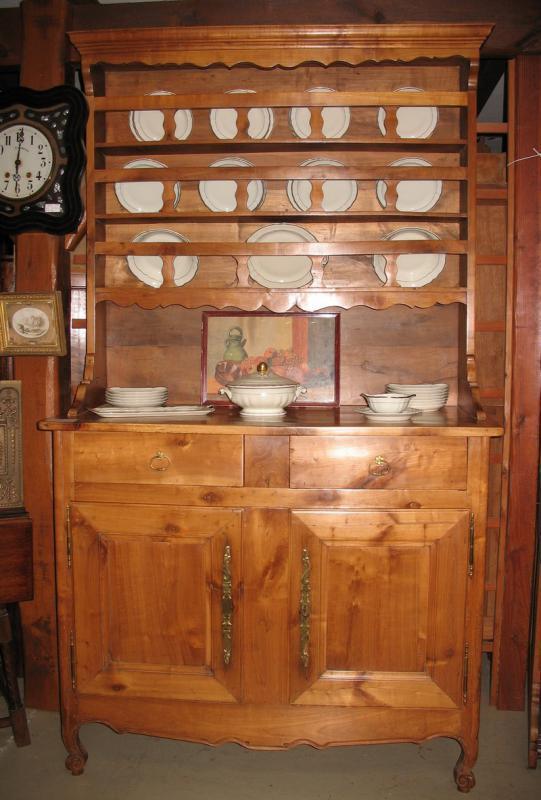 vaisselier louis xv en merisier xixe antiquites lecomte. Black Bedroom Furniture Sets. Home Design Ideas