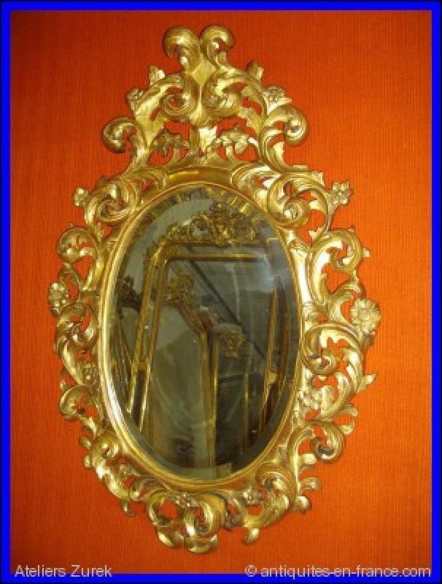 Miroirs anciens 19 me si cle antiquites en france page 9 for Miroir 19eme siecle