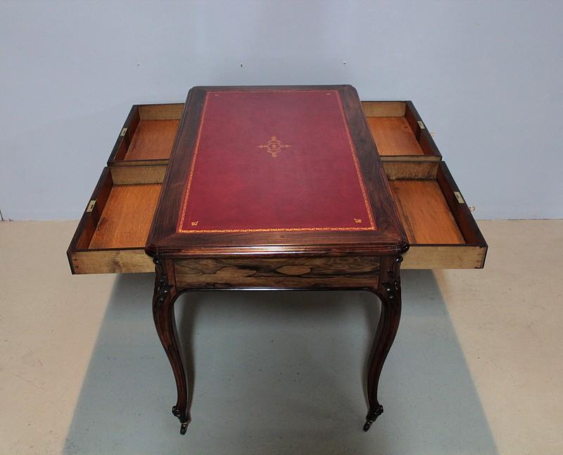 Table bureau louis xv en palissandre xixeme antiquites for Bureau xixeme