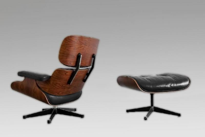 Charles ray eames fauteuil lounge chair et ottoman edit mobilier - Fauteuil charles et ray eames ...