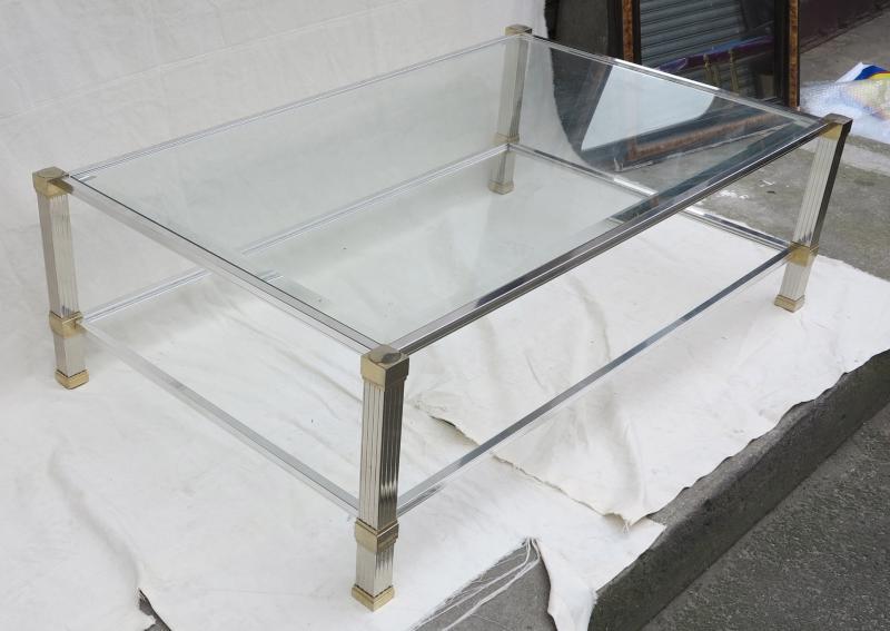table basse pierre vandel argent e et dor e a abc pascal. Black Bedroom Furniture Sets. Home Design Ideas