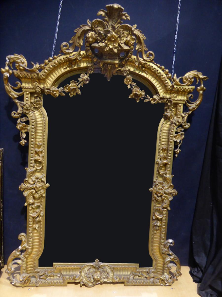 Important miroir de ch teau du xix me si cle philippe for Miroir 2 metre