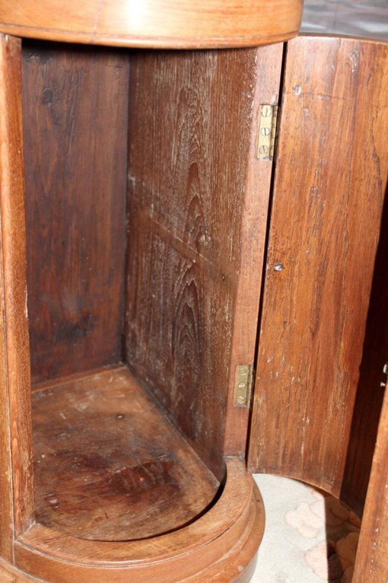 Petit meuble de bateau en teck xxeme antiquites lecomte for Meuble bateau acajou