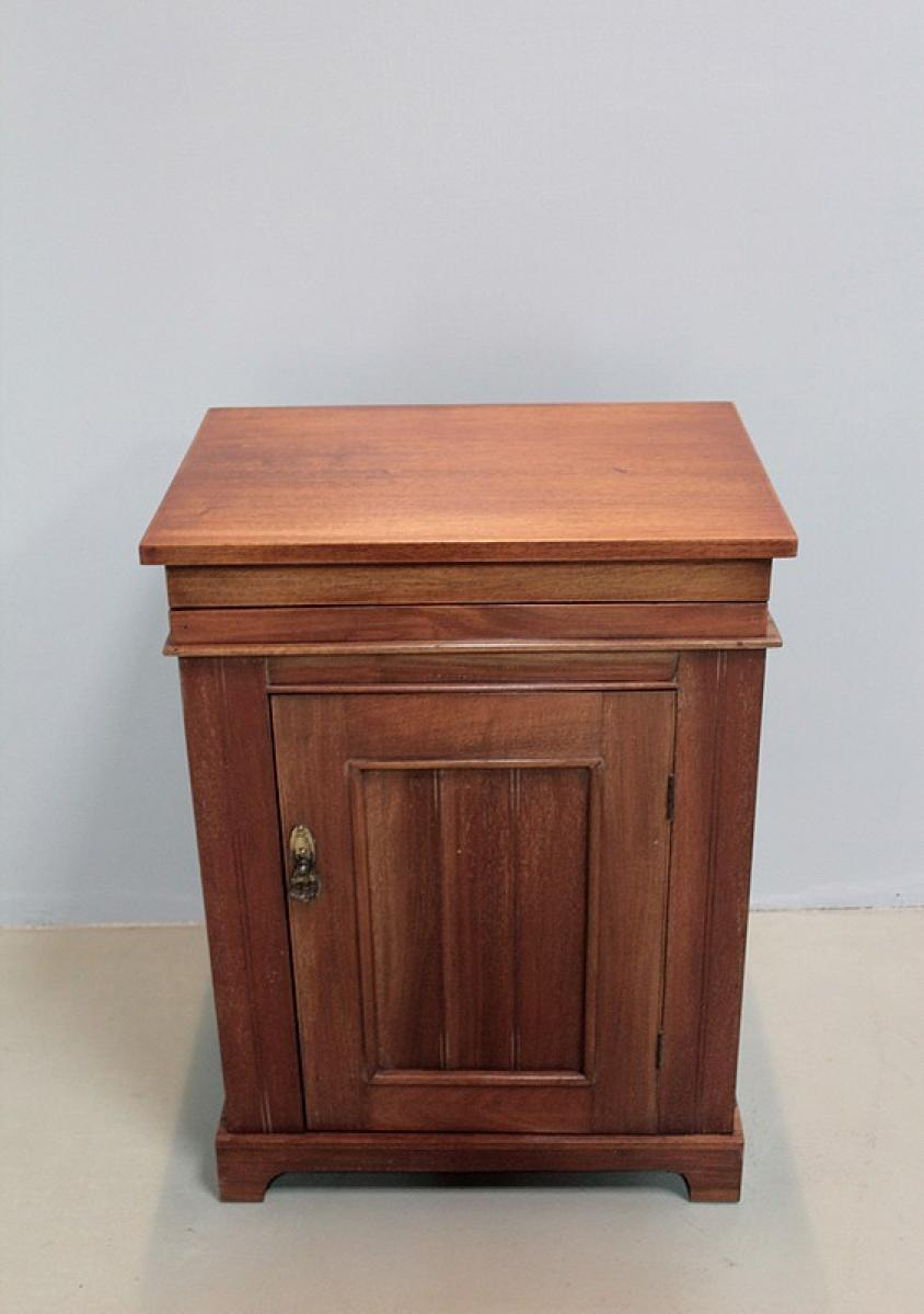 meuble lavabo de bateau anglais en acajou xxe antiquites lecomte. Black Bedroom Furniture Sets. Home Design Ideas
