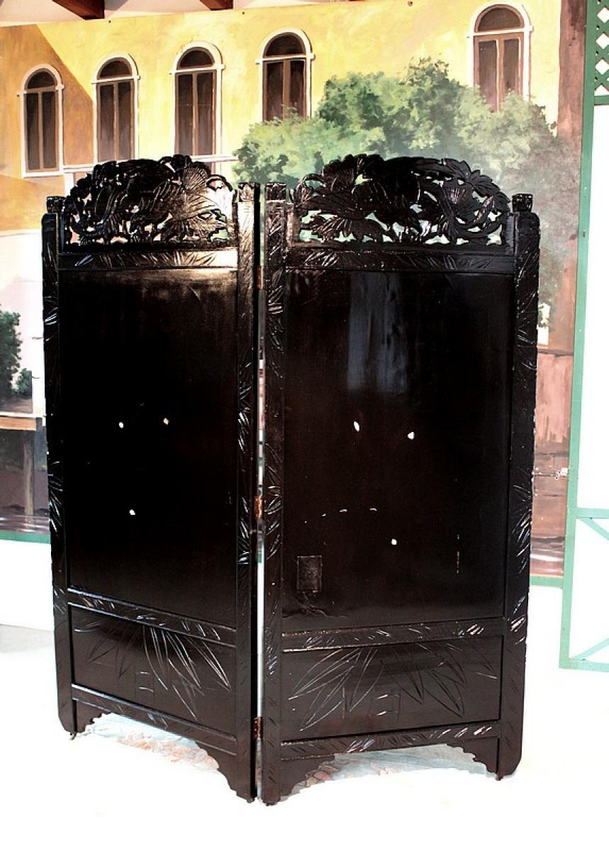 paravent chinois xxeme antiquites lecomte. Black Bedroom Furniture Sets. Home Design Ideas
