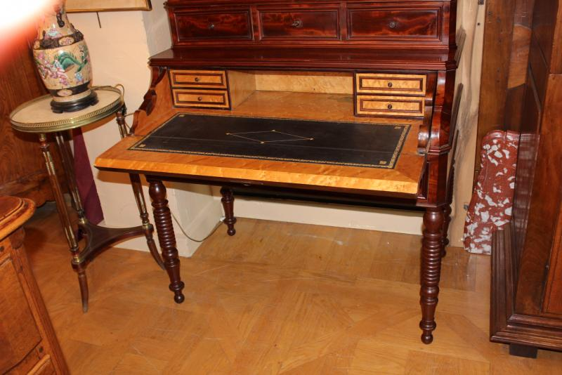 bureau vitrine louis philippe antiquit s christophe rochet. Black Bedroom Furniture Sets. Home Design Ideas