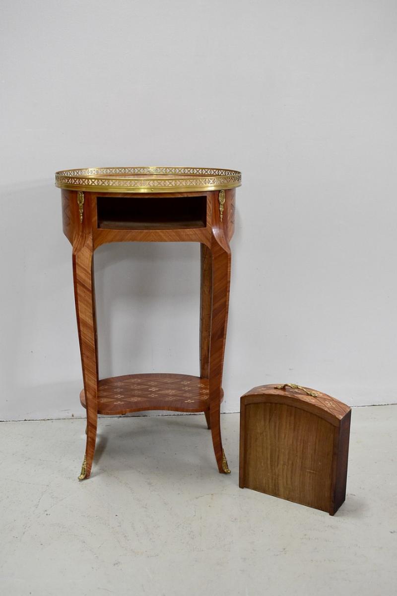 table en cas en bois de rose xx me antiquites lecomte. Black Bedroom Furniture Sets. Home Design Ideas