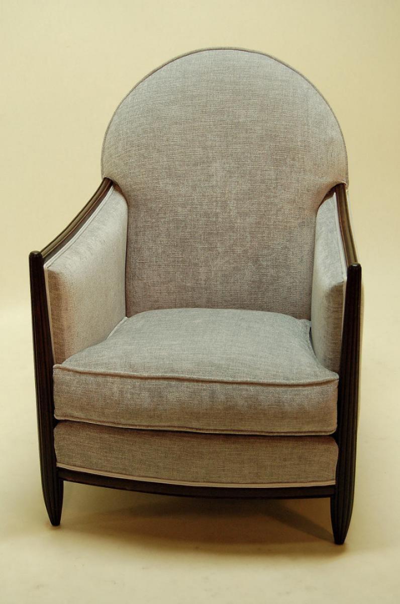 Salon d 39 poque art d co un canap et deux fauteuils for Canape et deux fauteuils