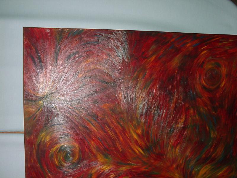 peinture abstraite les tourbillons helen antiquit s. Black Bedroom Furniture Sets. Home Design Ideas