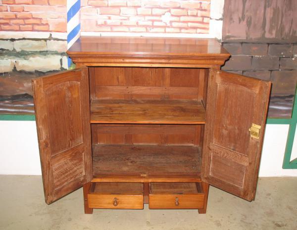 Petit meuble colonial en teck xixe antiquites lecomte - Petit meuble teck ...