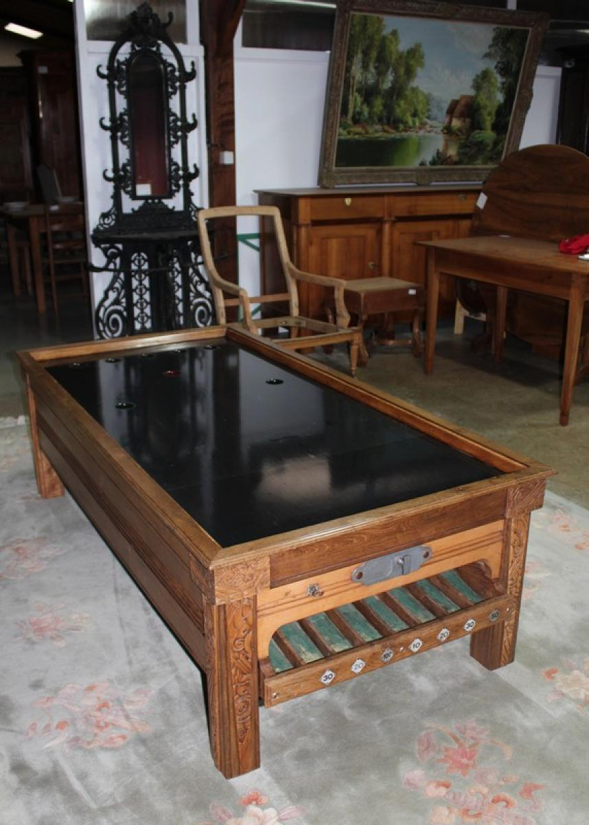 billard en ch ne mis en table basse xxe antiquites lecomte. Black Bedroom Furniture Sets. Home Design Ideas