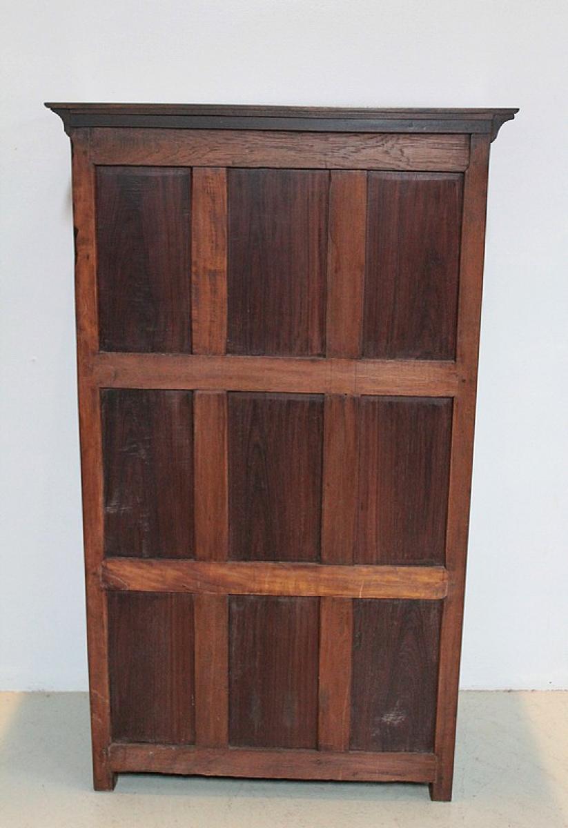 petite armoire epices go t louis xiv de pondich ry xixe. Black Bedroom Furniture Sets. Home Design Ideas