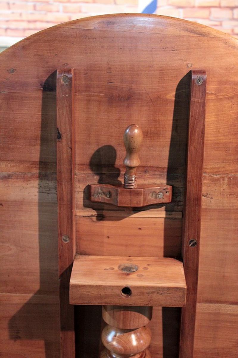 gu ridon louis philippe en merisier xixeme antiquites lecomte. Black Bedroom Furniture Sets. Home Design Ideas