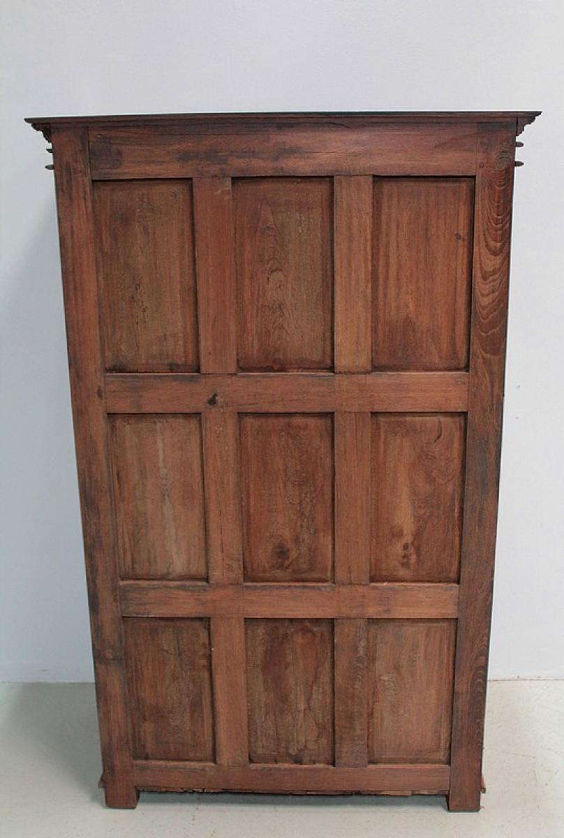armoire en teck palissandre inde xixe antiquites lecomte. Black Bedroom Furniture Sets. Home Design Ideas