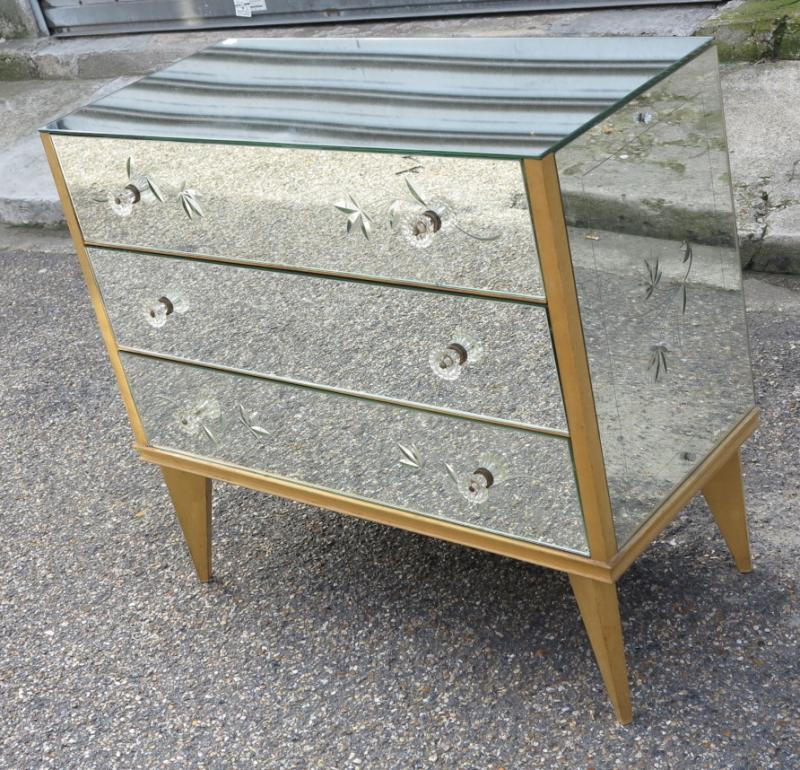 commode miroir art deco 3 tiroirs 50 60 a abc pascal. Black Bedroom Furniture Sets. Home Design Ideas