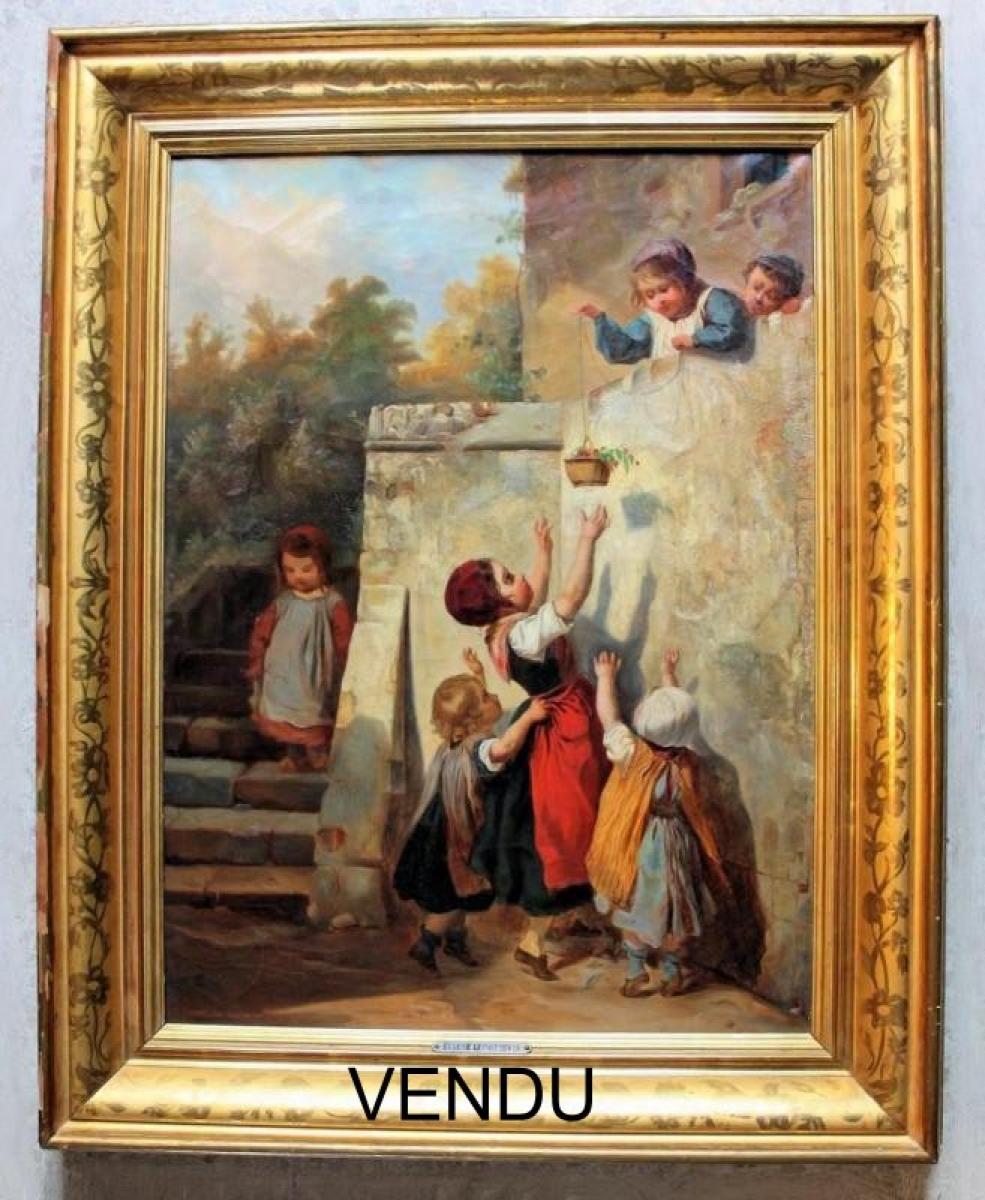 Eugène LE POITTEVIN peinture huile toile XIXe | Galerie Tramway