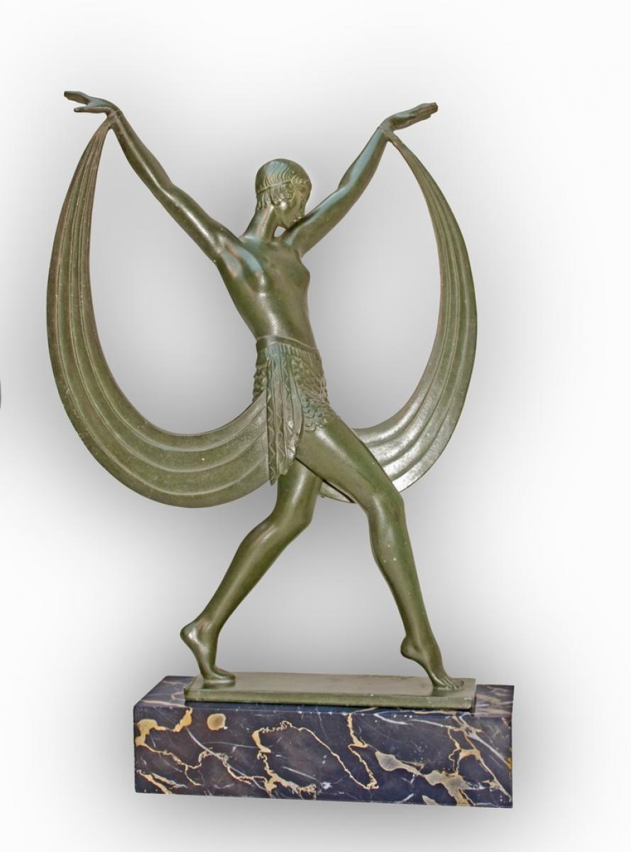 statue art d co 1925 sign e fayral mod le lysis max le verrier. Black Bedroom Furniture Sets. Home Design Ideas