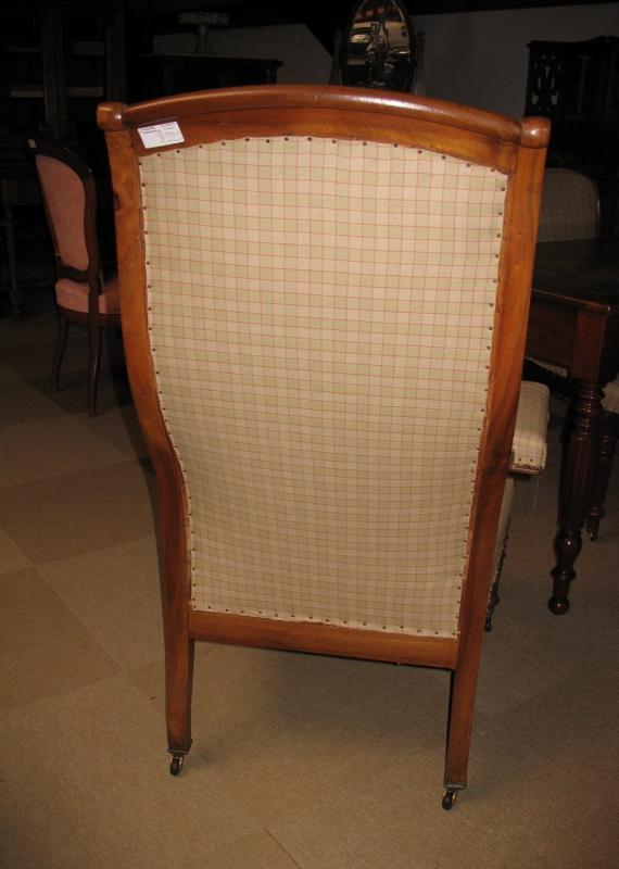 Fauteuil voltaire en noyer xixe antiquites lecomte - Achat fauteuil voltaire ...