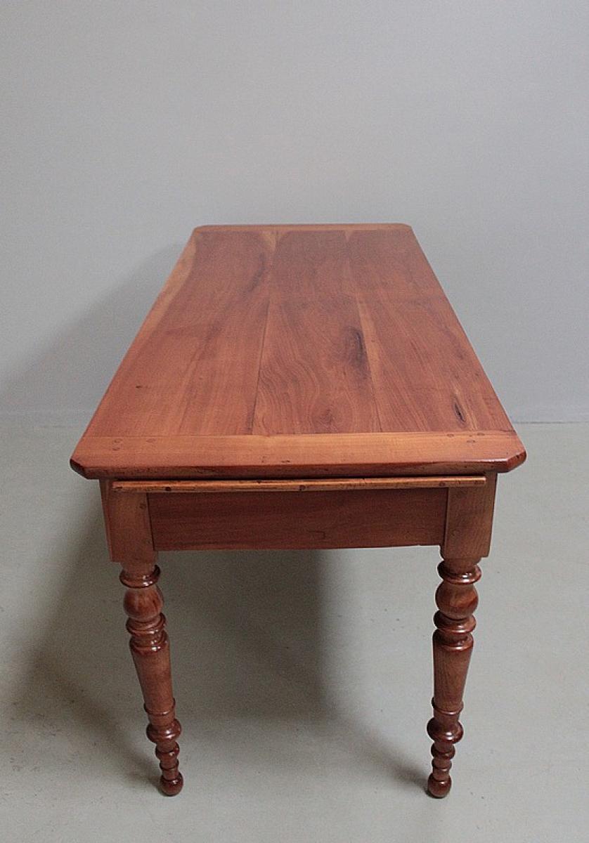 table rectangulaire en merisier xixeme antiquites lecomte. Black Bedroom Furniture Sets. Home Design Ideas