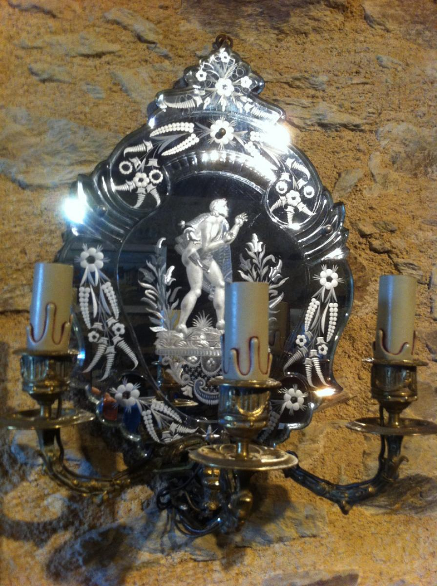 Miroir v nitien 19 me si cle antiquites en france for Miroir 19eme siecle