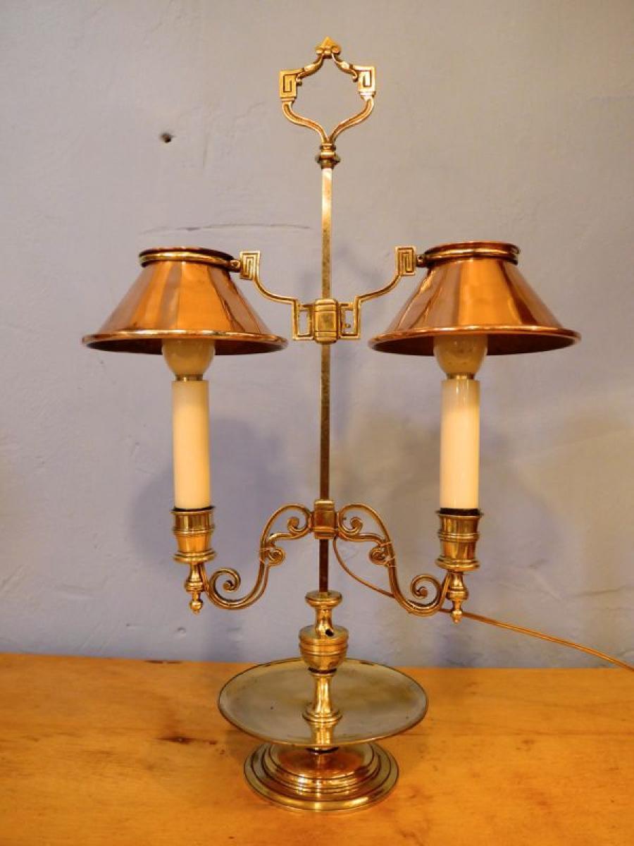 bougeoir double avec abat jour en cuivre la boutique opio. Black Bedroom Furniture Sets. Home Design Ideas
