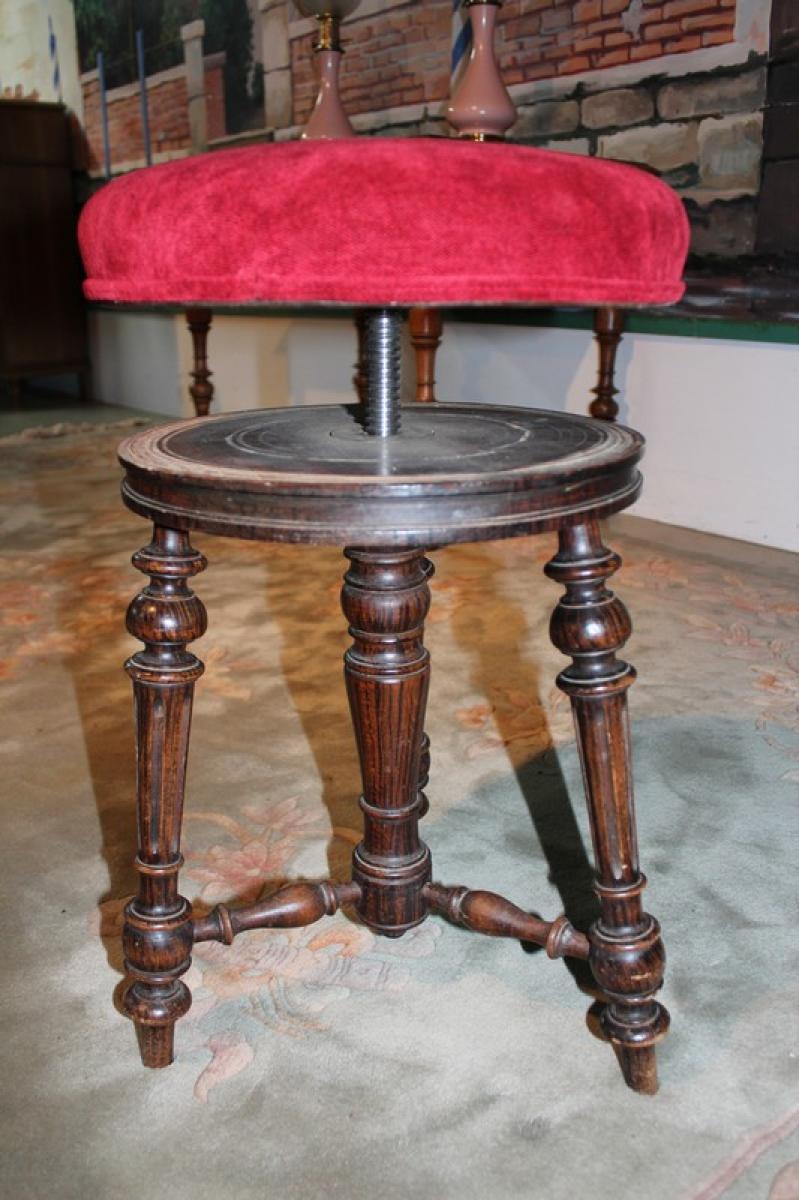 tabouret de piano napoleon iii xixe antiquites lecomte. Black Bedroom Furniture Sets. Home Design Ideas