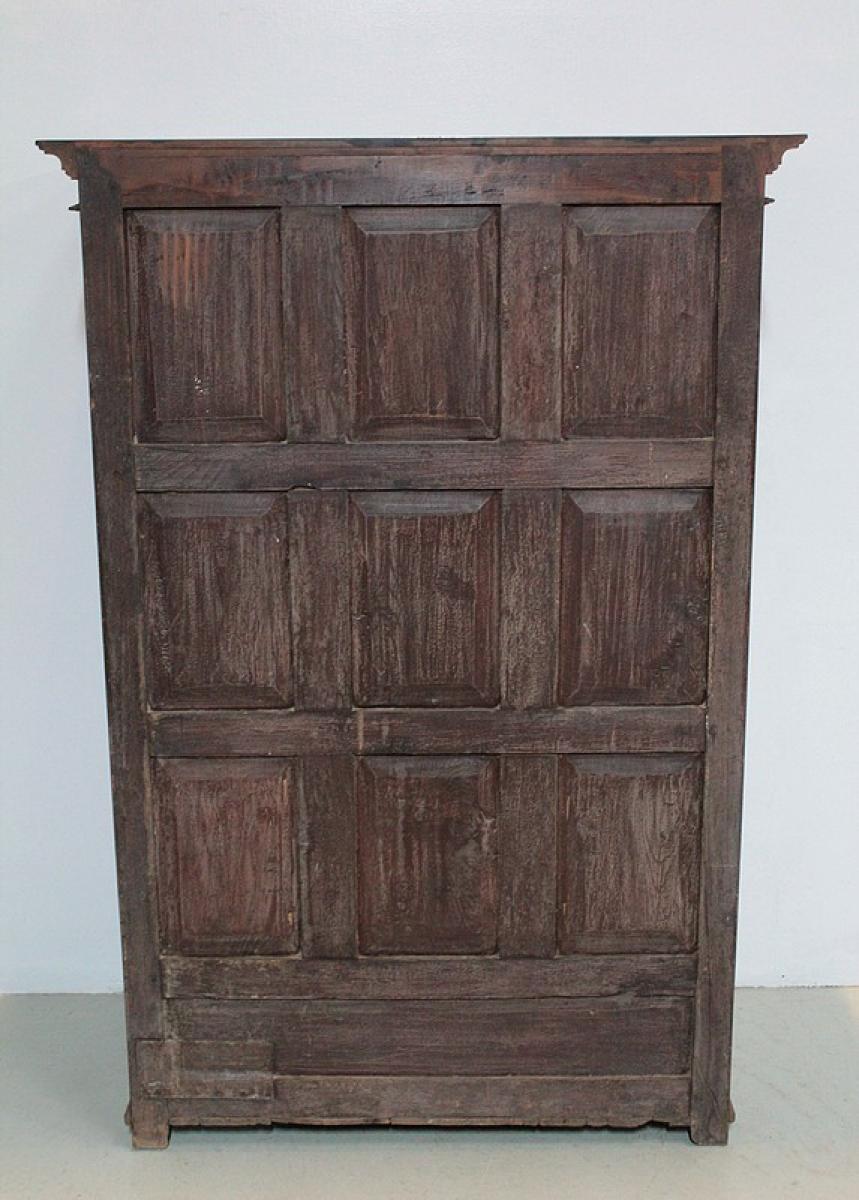 armoire epices go t louis xiv en teck inde xixe antiquites. Black Bedroom Furniture Sets. Home Design Ideas